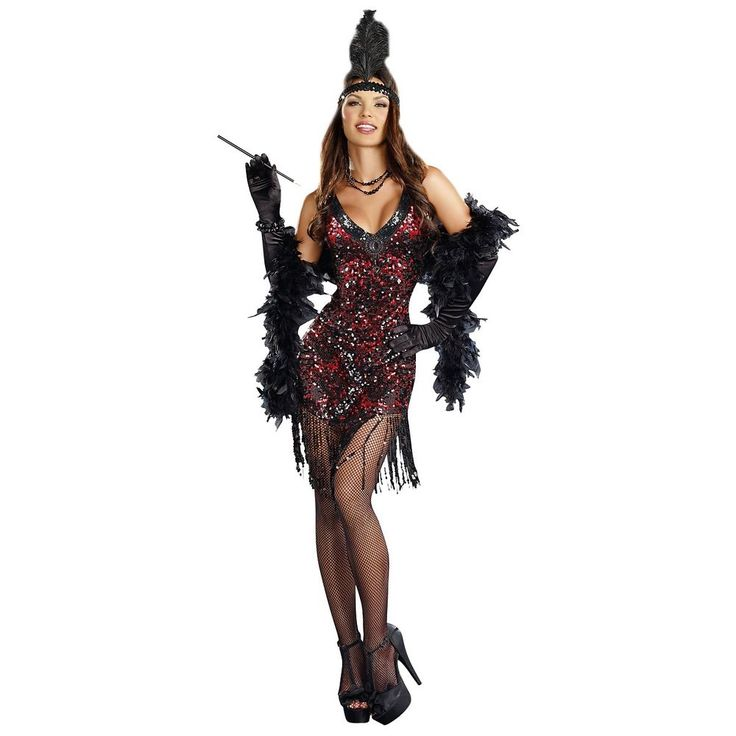 Flapper Dress Costume Adult Roaring 20s Halloween Fancy Dress  | eBay