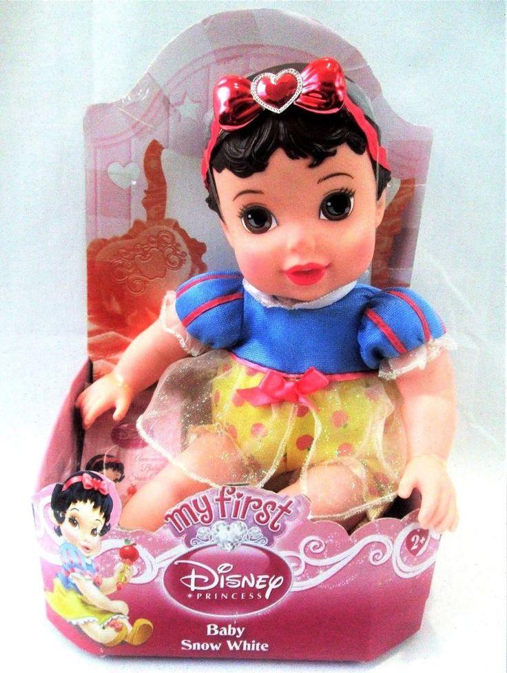 "My First Disney Princess 12"" BABY SNOW WHITE Soft Body DOLL Toddler Toy NEW #Disney"
