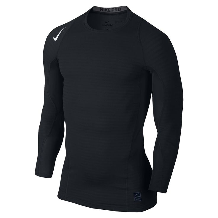 Nike Warm Compression Long Sleeve Crew SS16 Uzun Kollu Erkek Tişört #725029-010 - Barcin.com