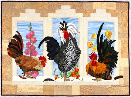 245 best Quilts - Chickens and Rooster Wall Hanging images on ... : rooster quilt patterns - Adamdwight.com