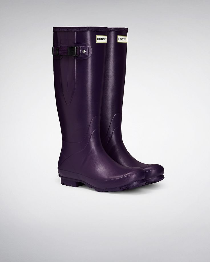 Mujer Púrpura Bota de agua con lateral ajustable Norris Field   Sitio oficial de Hunter