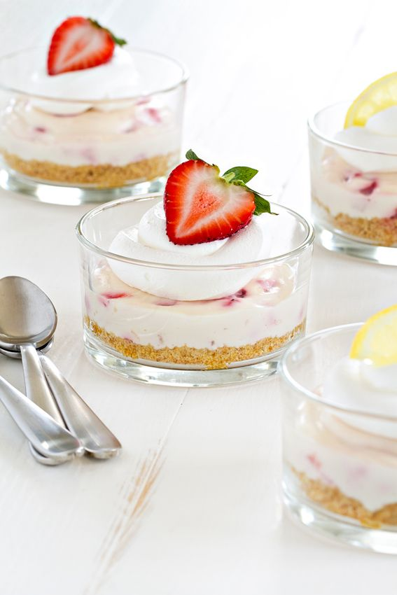 "<p><a href=""http://www.mybakingaddiction.com/no-bake-strawberry-lemonade-cheesecakes/"" target=""_blank"">Get the recipe here.</a></p>"