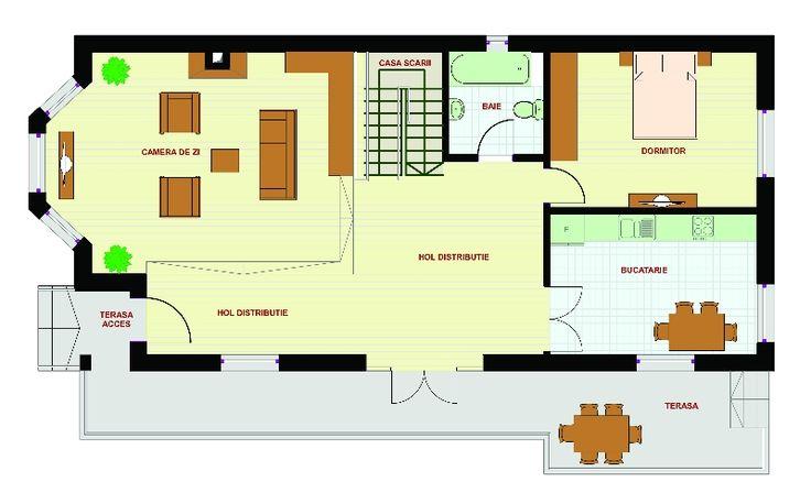 Proiecte de case pe teren cu deschidere mica narrow lot house plans 7