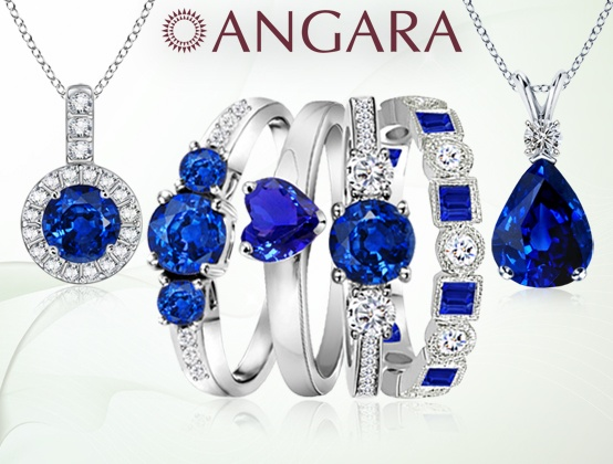 Angara Solitaire Blue Sapphire Earrings in Yellow Gold sWjJfTs