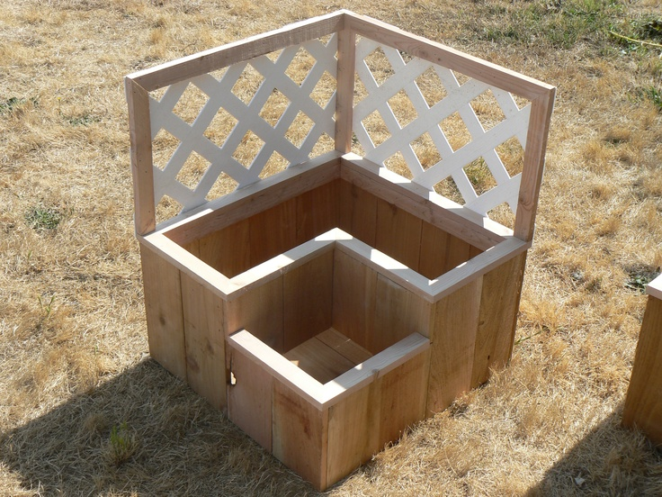 Two Tiered Box With White Lattice Multi Tiered Garden 400 x 300
