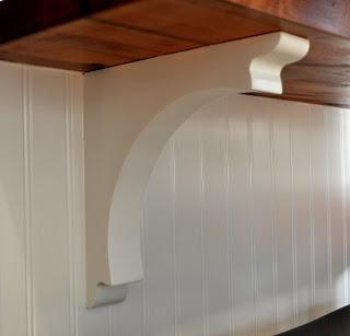 SoPo Cottage: Kitchen Island corbels
