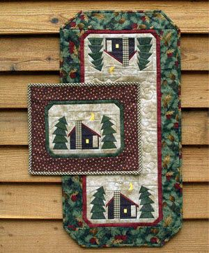quilt table runner patterns pine trees | ... quilted table runner placemat pattern patterns paper pieced patterns