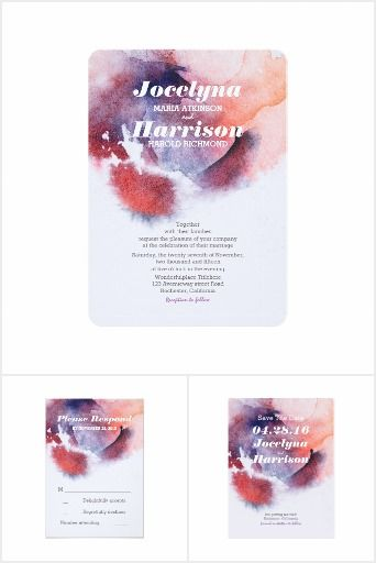 Watercolor Splashes Modern Wedding Collection