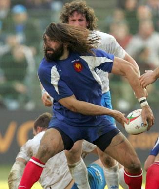 french rugby team - Sébastien Chabal