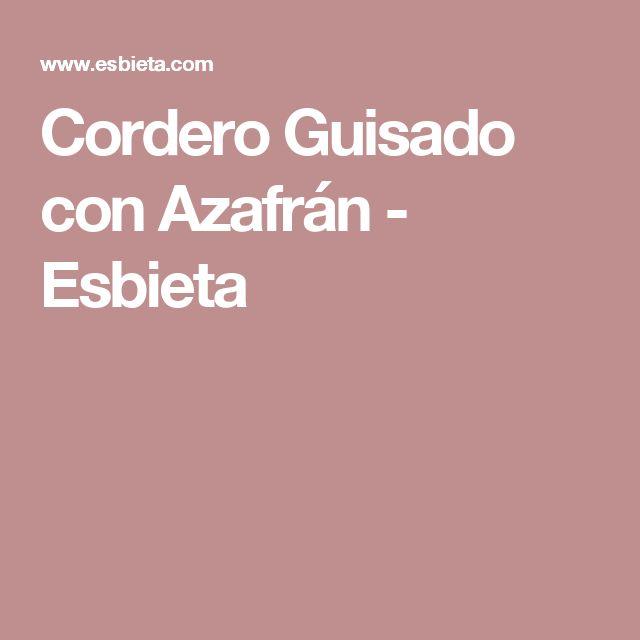 Cordero Guisado con Azafrán - Esbieta