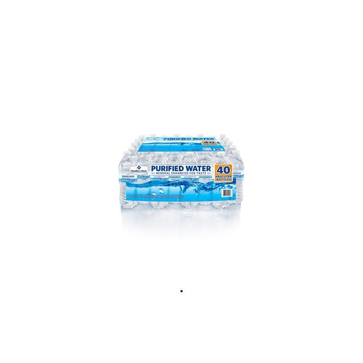 Members Mark Purified Water bottles - 40 16.9 oz