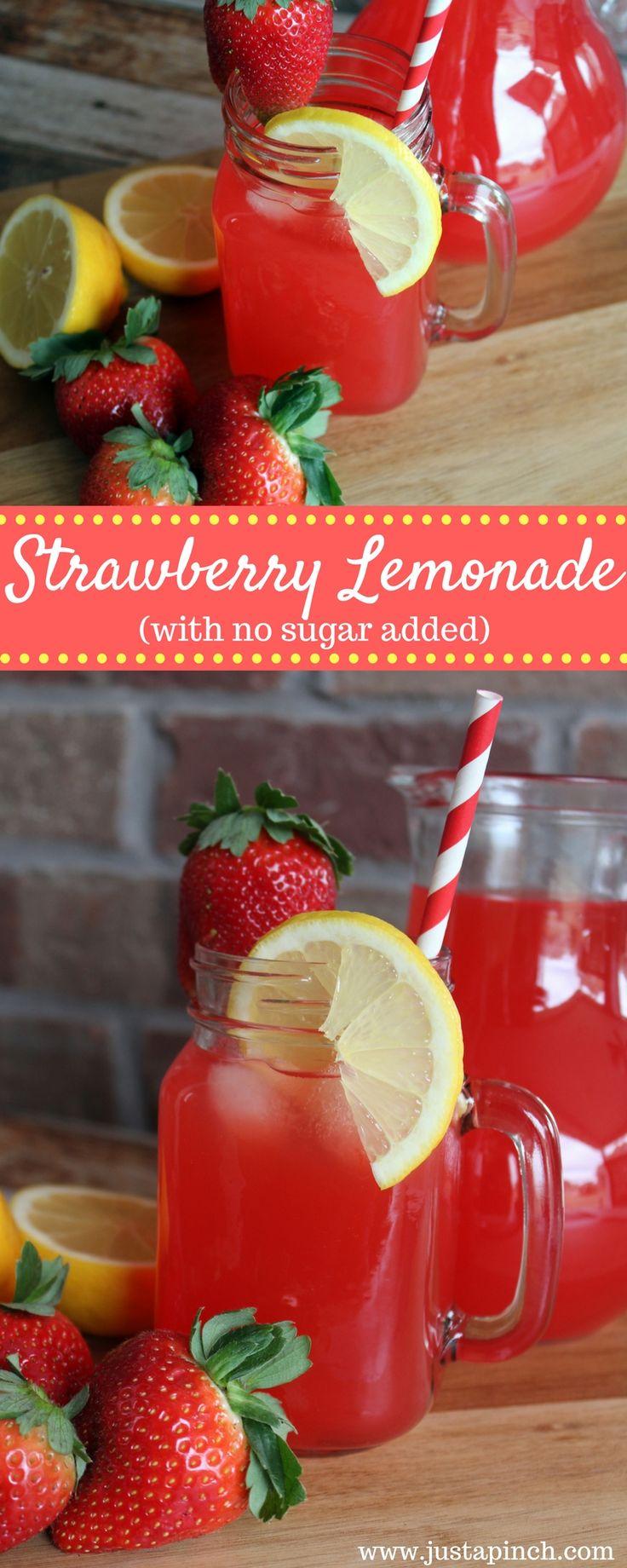 Strawberry lemonade with no sugar added