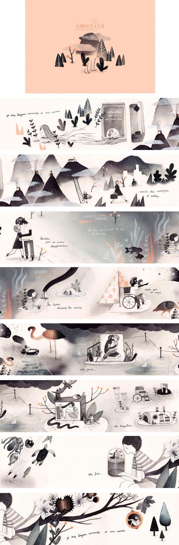 Identité (Identity) by Marianne Ferrer, via Behance