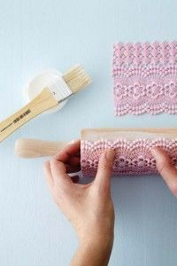 print with lace on rolling pin http://ideasmag.co.za/craft-decor/0812_web-reference-print-with-lace