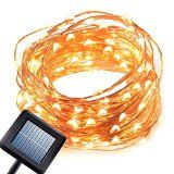 #5: Solar Powered String Light Kohree 120 Micro LEDs Light String With 20ft Long Ultra Thin String Copper Wire Seasonal Décor Rope Light For Weddings Garden Patio Tree Party Bedroom Xmas