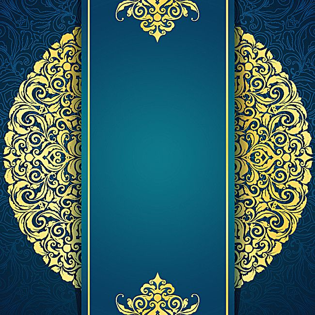continental gold invitation background material vertical version