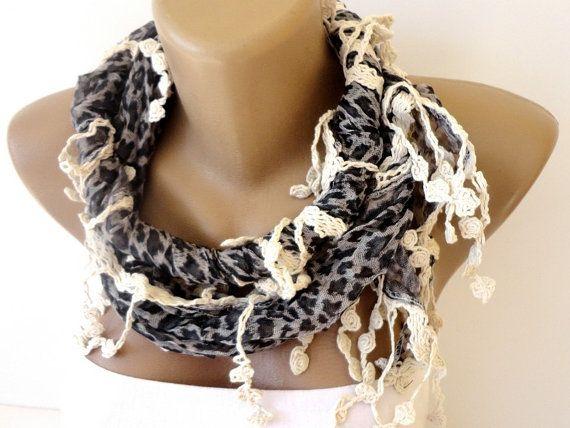 leopard scarf  scarf Shawl  cheetah print scarves by scarvesCHIC, $19.50