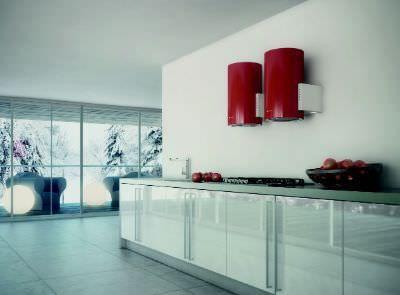Hotte de cuisine murale / design original / avec éclairage intégré BIOS Faber