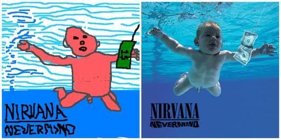 Portadas de discos hechas en Paint Nirvana