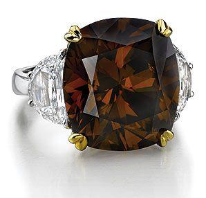 Chocolate diamond | Diamond, Colored diamonds, Bling