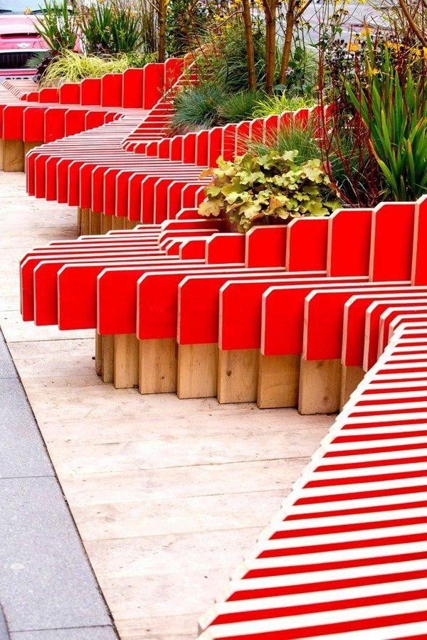 Portable ParkedBench parklet Landscape design, Design