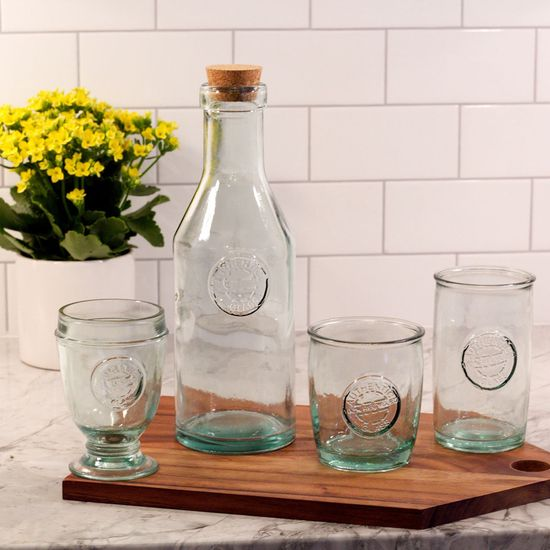 The Authentic Glassware from Urban Barn is a unique home decor item. Urban Barn carries a variety of Glassware and other  products furnishings.