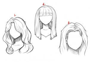 how to draw long hair step 6