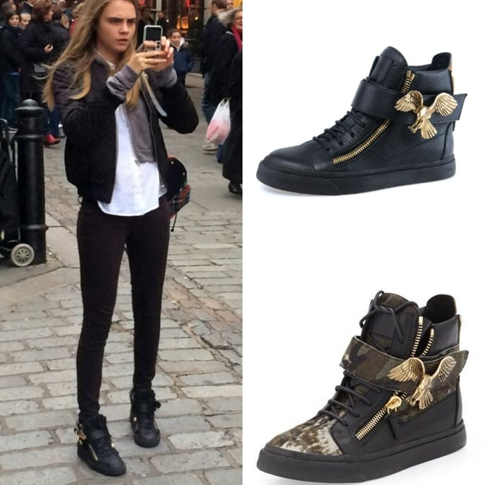 giuseppe zanotti style sneakers with heels