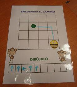 Gelamineerde plattegronden waarbij kinderen op papier leren programmeren. Is uitwisbaar als je een whitebord stift gebruikt