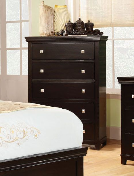 Modena Transitional Chest of Drawers (Brown Cherry & Espresso)