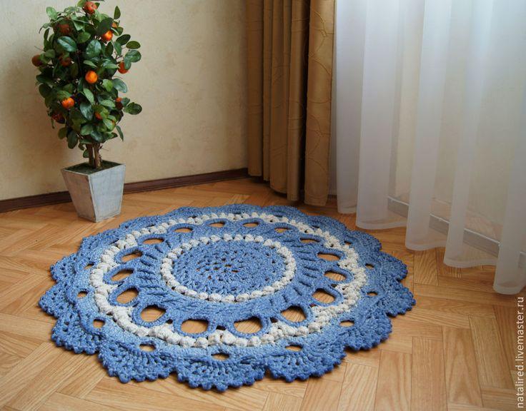 Купить Вязаный коврик Прованс (Кантри) - коврик, винтаж, прованс, коврик крючком, бабушкин, круглый