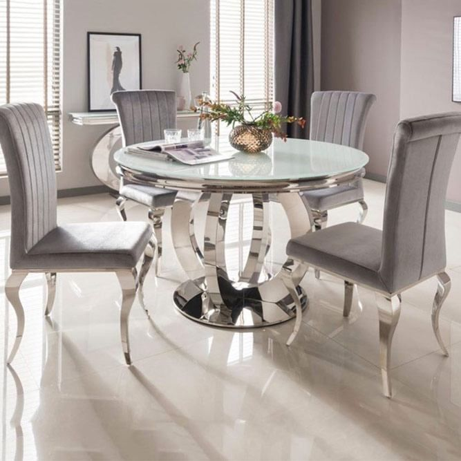Glass Round Dining Table, Round Dining Room Table Sets