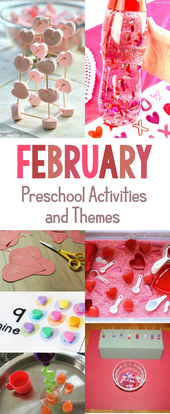 The Best February Preschool Activities and Themes for Preschool, fun Valentine's Day hands-on activities, heart crafts, Valentine's Day STEM, filling your calendar with random acts of kindness ideas, groundhog day preschool, This page is filled with great preschool activities and themes, February Themes for Kindergarten, February Theme Ideas, preschool themes, #preschool #preschoolactivities