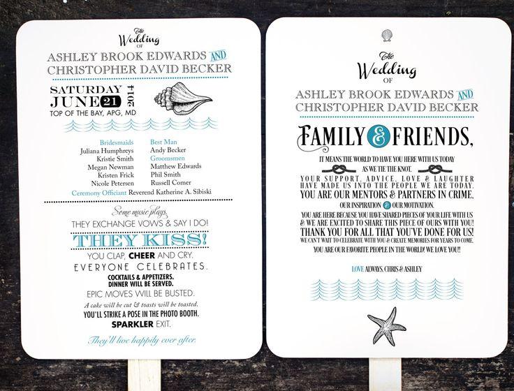 DIY Wedding Program Fan Kit Order of Service by FossilLetterpress