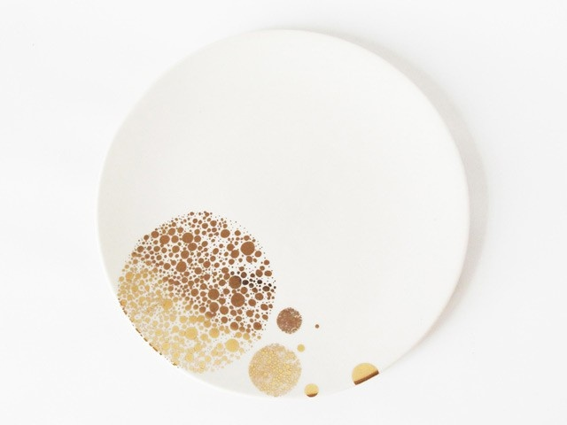 dotted 23k gold plate