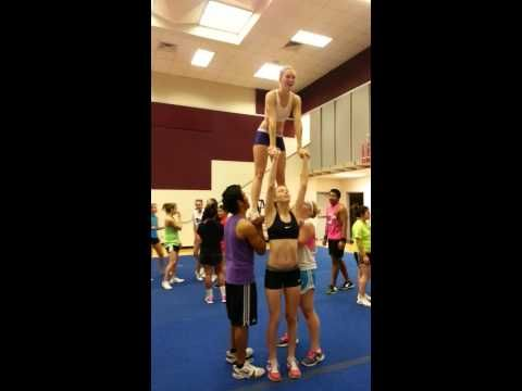 HHS Cheer: Hanna's Leap Frog - YouTube