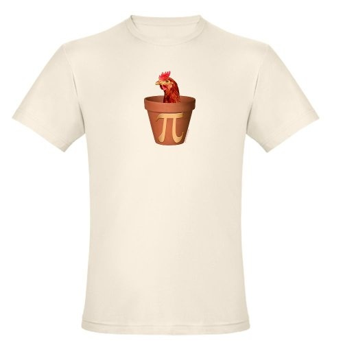 Chicken Pot Pi Organic Cotton Tee Funny Organic Mens Fitted T-Shirt by CafePress