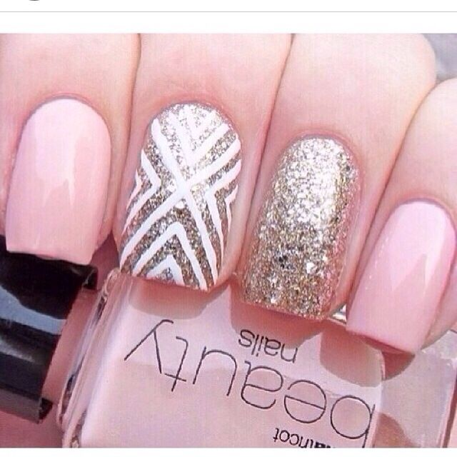 Pink and silver designs