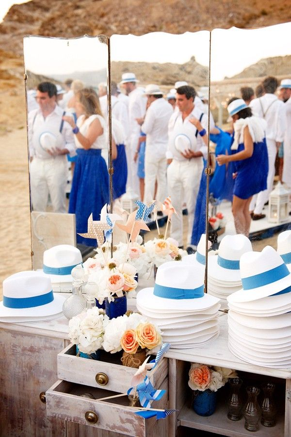 Hat station for ceremony. The 12 Events + De Plan V. - photo by…