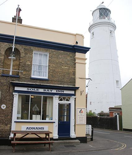 Photos of Southwold town, including street, architecture and beach scenes, Suffolk, East Anglia, England, UK