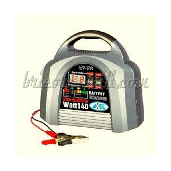 Caricabatteria Axel Matic Watt 140 - 8 A 12 V Innovativo caricabatteria in formato valigetta 8 A 12 V, amperometro con  display digitale, carica sutomatica della batteria lenta e veloce