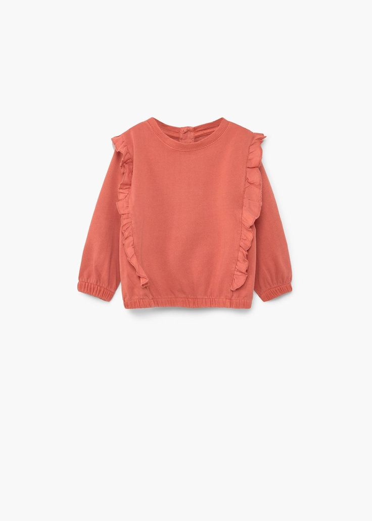 Sweat-shirt coton volants - Enfants | MANGO Kids France