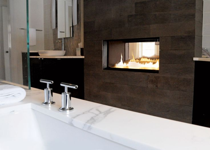 The VuThru Fireplace Model Allows For Enjoyment In Multiple Rooms.