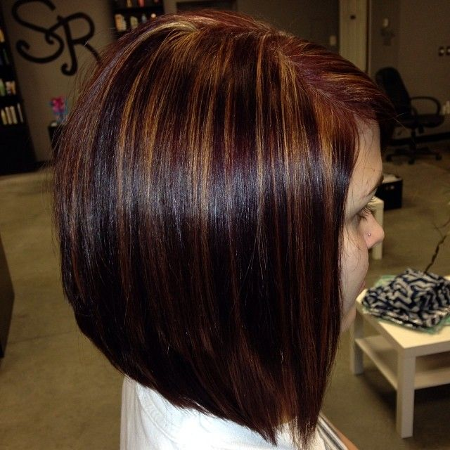 Red With Carmel Highlights Beautiful Hair Nails