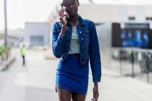 Fall Fashion Street Style - Fresh Ways to Wear Double Denim: Pair a Jean Jacket With a Denim Skirt