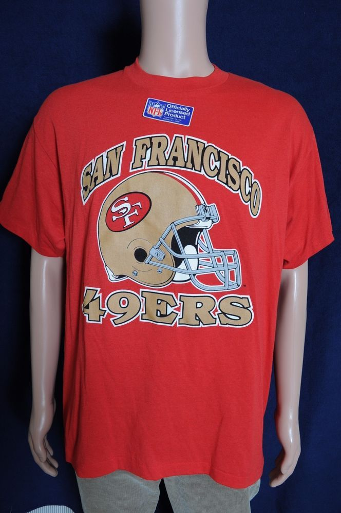 ac9b68ac6d2 Vintage  90s NOS San Francisco 49ers NFL football Trench red t shirt L   fashion  clothing  shoes  accessories  vintage  mensvintageclothing  ad  (ebay link)