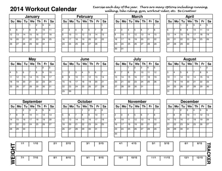 Workout Calendar For Weight Loss : Best images about filofax on pinterest each day body