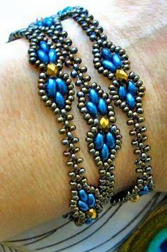 "Linda's Crafty Inspirations: FREE YouTube Beading Tutorial - ""Dream Empress Bracelet"""