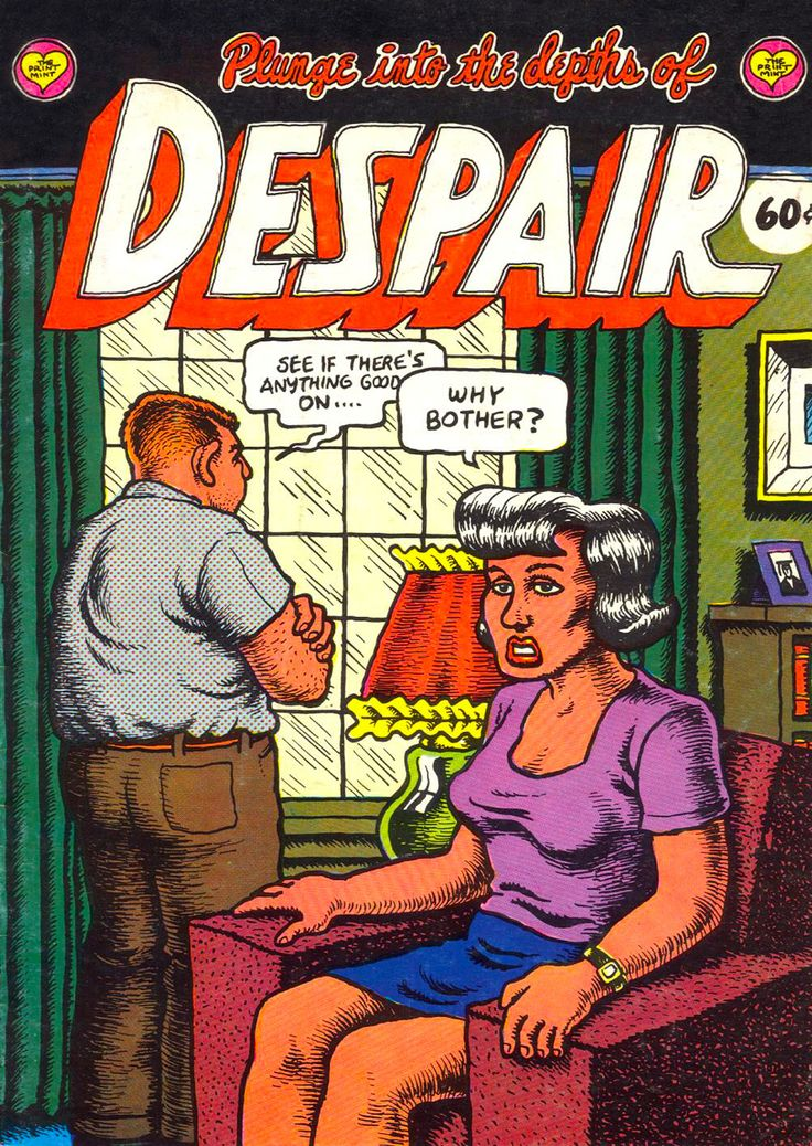 Despair by #Robert_Crumb #underground_comics