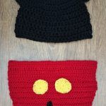 Mickey Mouse crochet hat and diaper cover - newborn